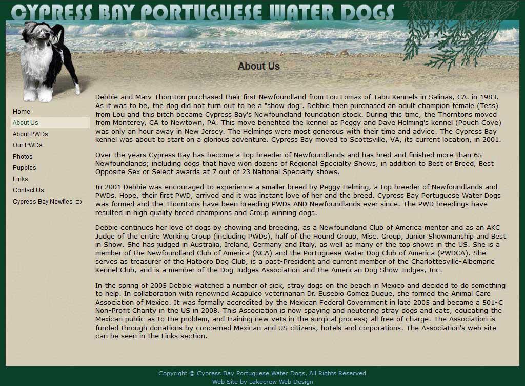 Lakecrew Web Design Portfolio [Cypress Bay PWDs]